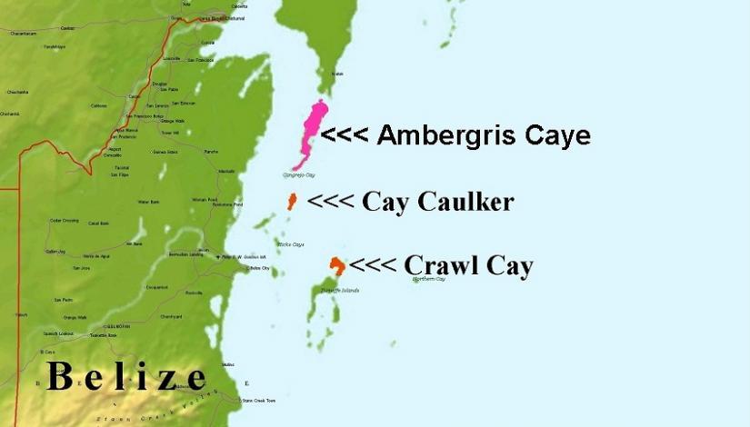 Ambergris Caye Map