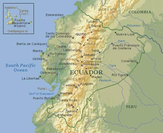 karte ecuador Ecuador Karte   Stöckl   Die Nr.1 Boa constrictor Seite im Internet karte ecuador