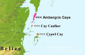 Cay Caulker Belize Map